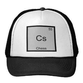 Cs - Chess Funny Chemistry Element Symbol T-Shirt Trucker Hat