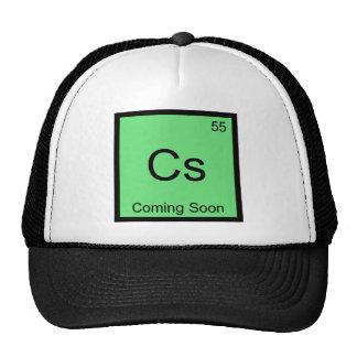 Cs - Coming Soon Chemistry Element Symbol Tee Trucker Hat