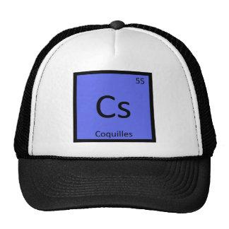 Cs - Coquilles Chemistry Periodic Table Symbol Trucker Hat