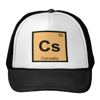 Cs - Corvallis Oregon Chemistry Periodic Table Trucker Hat