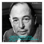 "CS Lewis ""Being Christian"" Wisdom Quote Poster by"