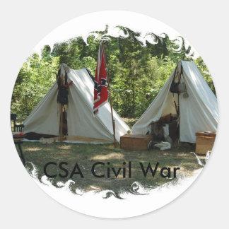 CSA Civil War Classic Round Sticker
