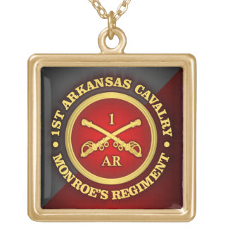 CSC -1st Arkansas Cavalry Gold Plated Necklace
