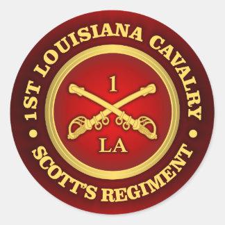 CSC -1st Louisiana Cavalry Classic Round Sticker