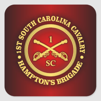 CSC -1st South Carolina Cavalry Square Sticker