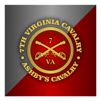 CSC -7th Virginia Cavalry (Ashby's Cavalry) Poster