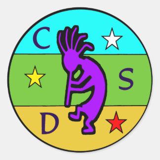 CSD School of Shamanism Round Stickers