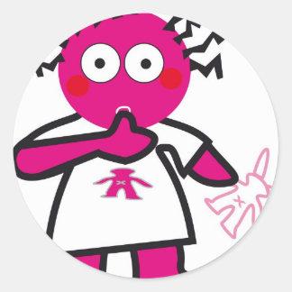 CSeeK BabyGirl Round Sticker