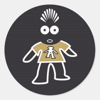 CSeeK Boy IwOO Round Sticker