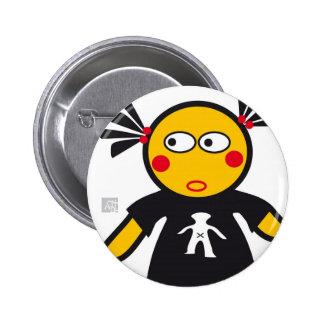 CSeeK Girl Yo 2 Inch Round Button