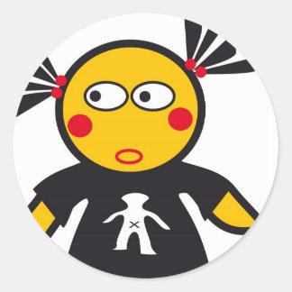 CSeeK Girl Yo Round Sticker