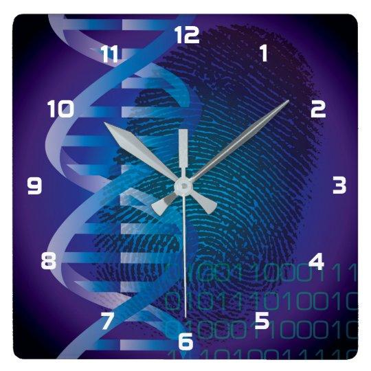 CSI DNA Fingerprint Wallclock