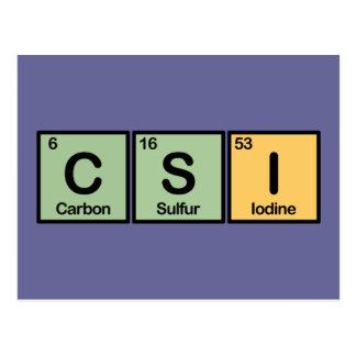 CSI made of Elements Postcard