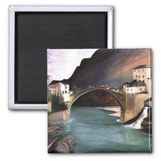 Csontvary- Roman Bridge at Mostar Magnet