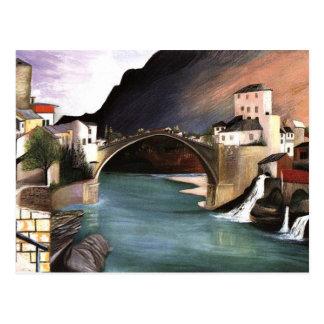 Csontvary- Roman Bridge at Mostar Postcard