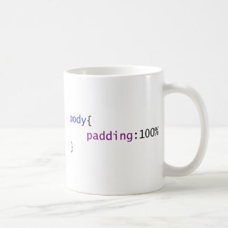 CSS Body: Padding 100% Coffee Mug