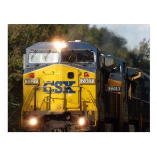 CSX Blue Train Engine Postcard