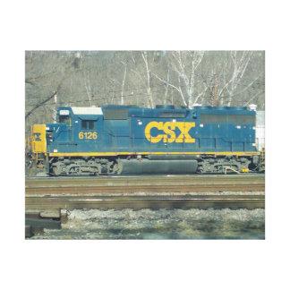 CSX Diesel Engine Canvas Print