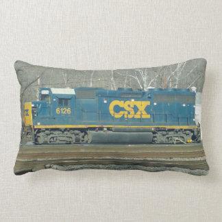 CSX Engine and Crossing Signal Pillow. Lumbar Pillow