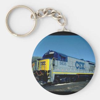 CSX GE B36-7 #5835, 1990_Trains Basic Round Button Keychain