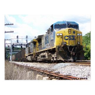 CSX Railroad AC4400CW #6 With a Coal Train Postcard