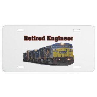 CSX Retired Engineer License Plate