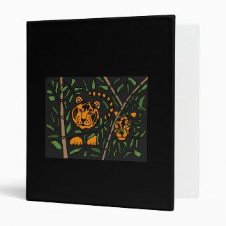 CT- Abstract Art Hidden Tigers Binder