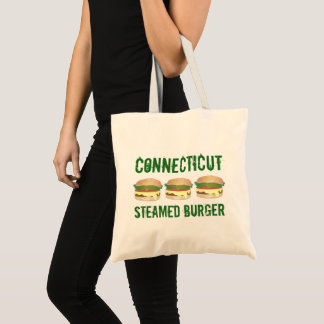 CT Connecticut Steamed Cheese Burger Cheeseburger Tote Bag