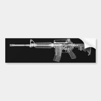 CT scan/X-ray AR15 rifle bumper sticker