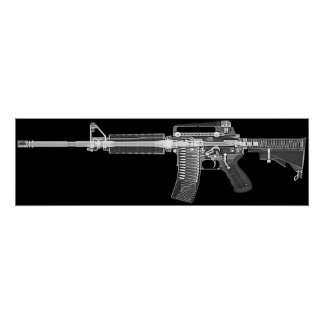 CT/X-ray poster from real AR-15 rifle! High detail