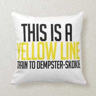 CTA Yellow Line Pillow