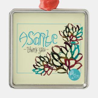 CTC International - Asante Silver-Colored Square Ornament