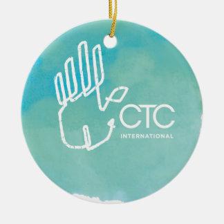 CTC International -  Blue Ceramic Ornament