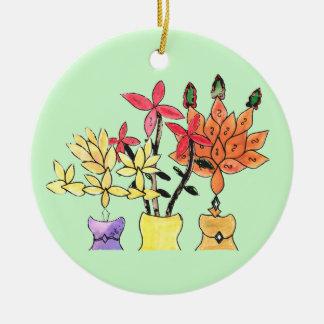 CTC International - Flowers Round Ceramic Ornament