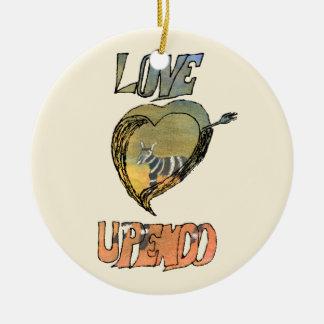 CTC International - Heart Round Ceramic Ornament