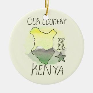 CTC International - Kenya Double-Sided Ceramic Round Christmas Ornament