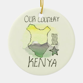 CTC International - Kenya Round Ceramic Ornament
