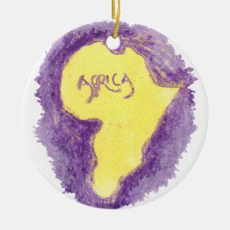 CTC International - Purple Round Ceramic Ornament