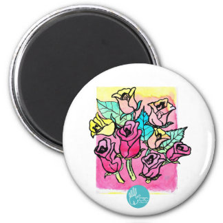 CTC International -  Roses 3 2 Inch Round Magnet