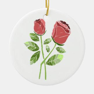 CTC International -  Roses Round Ceramic Ornament