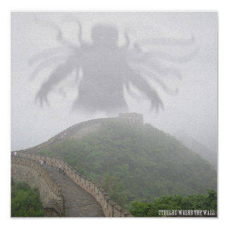 Cthulhu at the Wall Poster