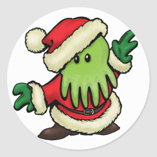 Cthulhu Claus Envelope Stickers