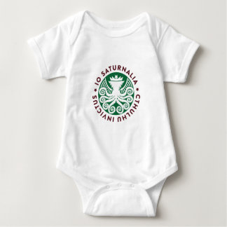 Cthulhu Declares War on Christmas Baby Bodysuit