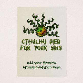 Cthulhu Died Business Card