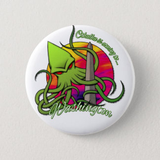 Cthulhu Eating the Obelisk on the Washington D.C. 2 Inch Round Button
