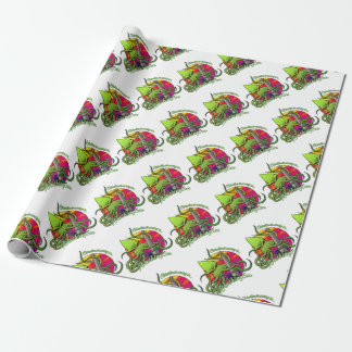 Cthulhu Eating the Obelisk on the Washington D.C. Wrapping Paper