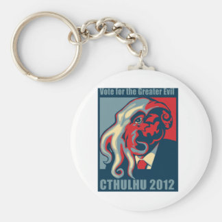 Cthulhu for President- 2012 Basic Round Button Keychain