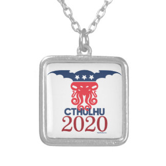 Cthulhu for President 2020 Silver Plated Necklace