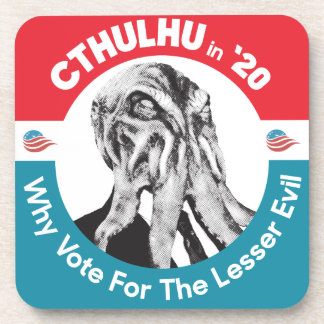 Cthulhu for President in '20 Drink Coaster