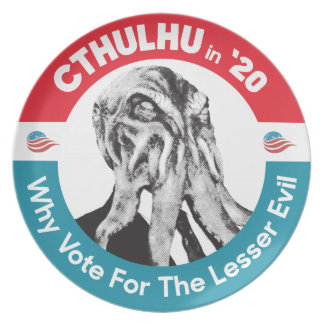 Cthulhu for President in '20 Plate